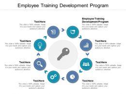 Employee Training Development Program Ppt Powerpoint Presentation Pictures Deck Cpb