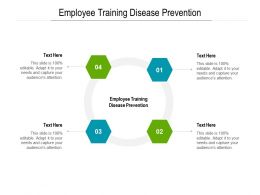 Employee Training Disease Prevention Ppt Powerpoint Presentation Layouts Visuals Cpb