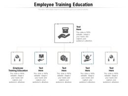 Employee Training Education Ppt Powerpoint Presentation Icon Grid Cpb