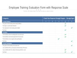 Employee Training Evaluation Form With Response Scale