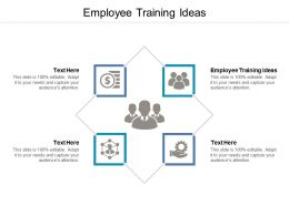Employee Training Ideas Ppt Powerpoint Presentation Model Designs Cpb