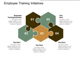 Employee Training Initiatives Ppt Powerpoint Presentation Gallery Visual Aids Cpb