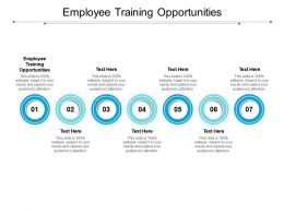Employee Training Opportunities Ppt Powerpoint Presentation Infographics Sample Cpb