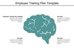 Employee Training Plan Template Ppt Powerpoint Presentation Designs Download Cpb