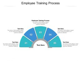 Employee Training Process Ppt Powerpoint Presentation Pictures Graphic Tips Cpb