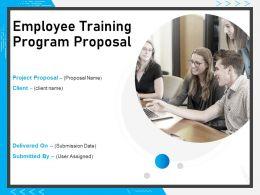 Employee Training Program Proposal Powerpoint Presentation Slides