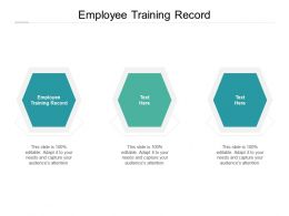 Employee Training Record Ppt Powerpoint Presentation Professional Cpb