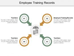 Employee Training Records Ppt Powerpoint Presentation Summary Show Cpb
