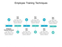 Employee Training Techniques Ppt Powerpoint Presentation Styles Background Cpb
