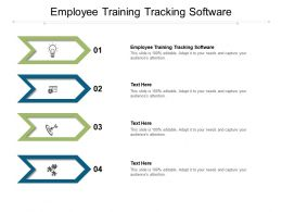 Employee Training Tracking Software Ppt Powerpoint Presentation Model Diagrams Cpb