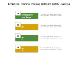 Employee Training Tracking Software Safety Tracking Ppt Powerpoint Presentation Styles Styles Cpb