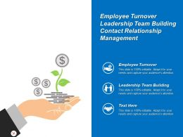 Employee Turnover Leadership Team Building Contact Relationship Management