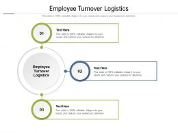 Employee Turnover Logistics Ppt Powerpoint Presentation Infographic Template Cpb