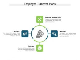 Employee Turnover Plans Ppt Powerpoint Presentation Outline Vector Cpb
