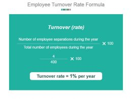 Employee Turnover Rate Formula Powerpoint Presentation Templates