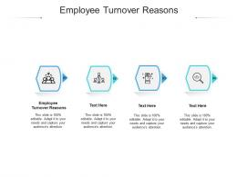 Employee Turnover Reasons Ppt Powerpoint Presentation Show Themes Cpb