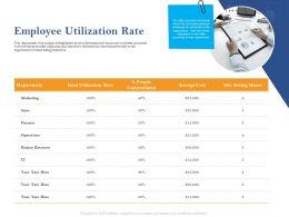 Employee Utilization Rate Ppt Powerpoint Presentation Slides Gridlines