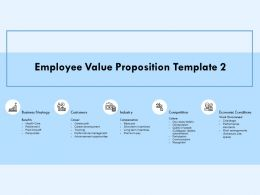 Employee Value Proposition Business Strategy Ppt Powerpoint Presentation Diagram Lists