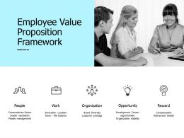 Employee Value Proposition Framework Work Reward Ppt Presentation Pictures Show