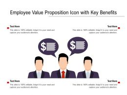 Employee Value Proposition Icon With Key Benefits