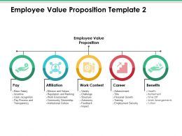 Employee Value Proposition Ppt Infographics Templates
