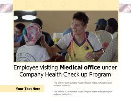 Employee Visiting Medical Office Under Company Health Check Up Program
