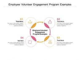 Employee Volunteer Engagement Program Examples Ppt Powerpoint Pictures Cpb