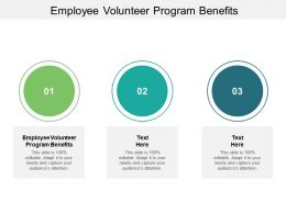 Employee Volunteer Program Benefits Ppt Powerpoint Presentation Ideas Sample Cpb