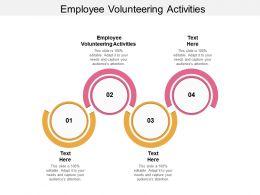 Employee Volunteering Activities Ppt Powerpoint Presentation Styles Graphics Cpb