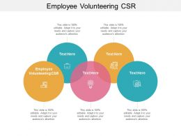 Employee Volunteering CSR Ppt Powerpoint Presentation Show Graphics Cpb