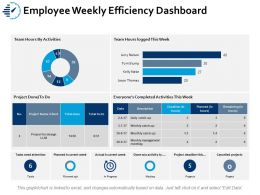 Employee Weekly Efficiency Dashboard Ppt Portfolio Brochure