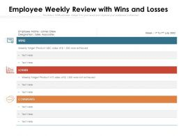 Employee Weekly Review With Wins And Losses