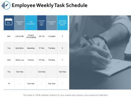 Employee Weekly Task Schedule Ppt Portfolio Clipart Images