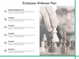 Employee Wellness Plan Ppt Powerpoint Presentation Slides Background Images Cpb