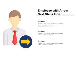 Employee With Arrow Next Steps Icon