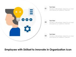 Employee With Skillset To Innovate In Organization Icon
