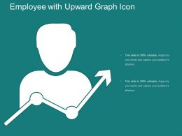 Employee With Upward Graph Icon