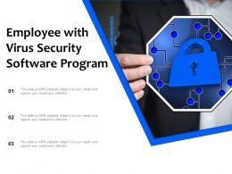 Employee With Virus Security Software Program