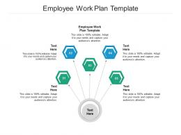 Employee Work Plan Template Ppt Powerpoint Presentation Layouts Demonstration Cpb