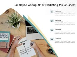 Employee Writing 4p Of Marketing Mix On Sheet