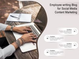 Employee Writing Blog For Social Media Content Marketing