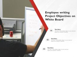 Employee Writing Project Objectives On White Board