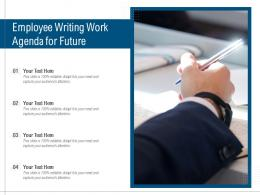 Employee Writing Work Agenda For Future