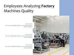Employees Analyzing Factory Machines Quality