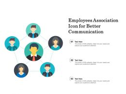 Employees Association Icon For Better Communication