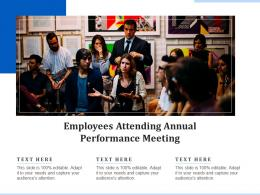 Employees Attending Annual Performance Meeting