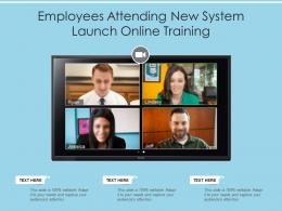 Employees Attending New System Launch Online Training