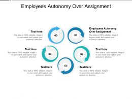 Employees Autonomy Over Assignment Ppt Powerpoint Presentation Model Example Cpb
