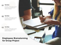 Employees Brainstorming For Group Project