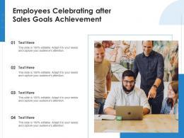 Employees Celebrating After Sales Goals Achievement